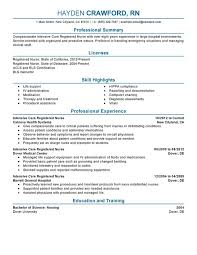 unforgettable intensive care nurse resume examples to stand out    intensive care nurse resume sample