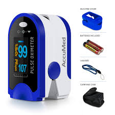 AccuMed <b>Pulse Oximeter</b>, Sp02 Finger Blood Pulse Oxygen Monitor ...