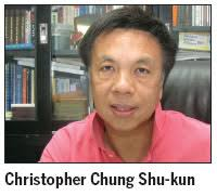 Veternan District Councilor Christopher Chung Shu-kun says he has grown weary of the vague, self serving remarks from the floor of the Legislative Council ... - 0013729e4771119fa5e904