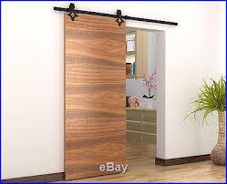 6ft american style sliding barn door hardware dark coffee barn style sliding doors
