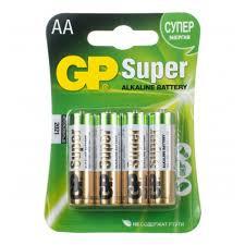 <b>Элемент питания GP Super</b> Alkaline LR6 AA бл 4, 15A-2CR4 ...