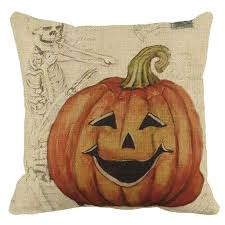 <b>Halloween</b> Pumpkin <b>square pillow</b> cover case Devil Monster <b>Gothic</b> ...