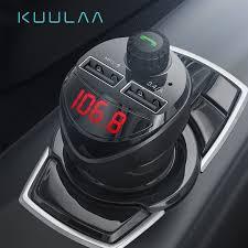 KUULAA <b>Car Charger</b> FM Transmitter <b>Bluetooth</b> Car Audio MP3 ...