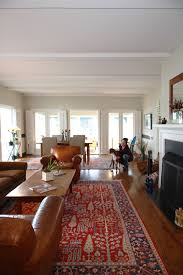 Rugs In Living Rooms Transitional Living Room With Oriental Rug Custom Textiles And