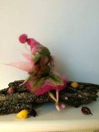 Needle felted Fairy, Waldorf inspired,Felted Fairy, <b>Flower Fairy</b>, Pink ...