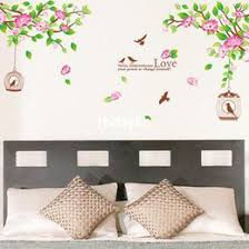 wall stickers home decor living room furniture wall stickers hibiscus blooms sofa backdrop restaurant bedroom garden style decorative wall s bedroom furniture sticker style