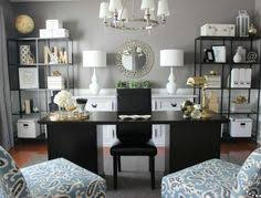 offices striped walls and black and white on pinterest black white home office cococozy 5