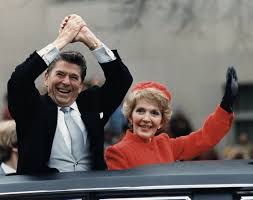 ronald reagan simple english the encyclopedia the reagans waving from the limousine during the inaugural parade 1981