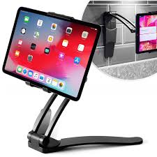 <b>Wall</b> Mount Holder 2in1 Kitchen <b>Desk Tablet Stand</b> 360°Rotating for ...