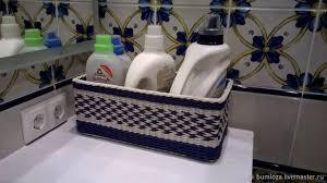 Купить Плетеная корзина-<b>органайзер для ванной</b> комнаты ...