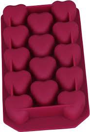 """<b>Форма для льда</b> Bekker """"Сердечки"""", силиконовая, цвет: бордовый ..."""