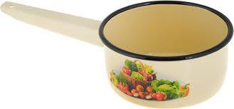 """<b>Ковш СтальЭмаль</b> """"Корзина с овощами"""", с эмалированным ..."""