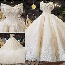 <b>Amazing</b> V Neck Off The Shoulder Ball Gown Wedding Dresses ...