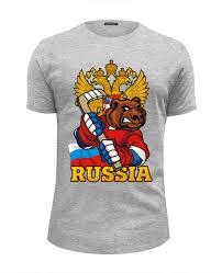 Футболка Wearcraft Premium Slim Fit <b>Russian</b> Bear #933946 от ...
