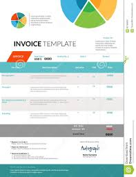 invoice template design stock vector image  invoice template design