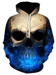 [30% OFF] <b>3D Skull</b> Print Pocket <b>Hoodie</b>   Rosegal