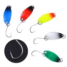 <b>6Pcs</b> 2.5g Spinner Spoon <b>Fishing</b> Lure Hard Baits Trout Blinker ...