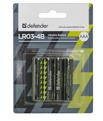 Батарея ALKALINE AAA 1.5V <b>LR03</b>-<b>4B 4PCS</b> 56002 <b>DEFENDER</b> ...