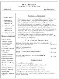 sample resume appraiser  jpgreal estate appraiser resume example