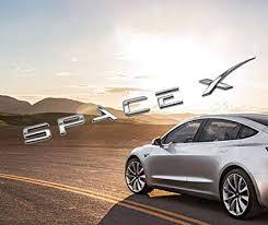 Spacex Decals 3D Metal Car Rear Trunk Emblem ... - Amazon.com