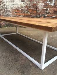 reclaimed industrial chic 10 12 seater pedestal conference office tablebar and cafe restaurant furniture steel woodoffice chic wood office desk