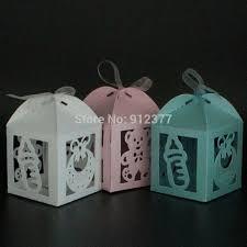 <b>AVEBIEN</b> 24pcs laser <b>Cute</b> Baby Shower <b>Candy Box</b> Event Party ...