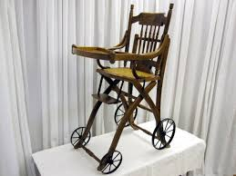 antique high chair converts to stroller mint condition for sale antique high chairs wooden