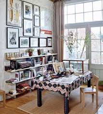 chic home office decor: floppy but refined boho chic home offices