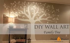 wall decal family art bedroom decor brown  diy family tree art brown