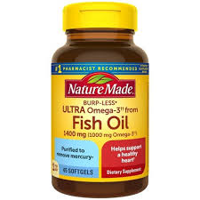 Nature Made <b>Ultra Omega-3 Fish Oil</b> Dietary Supplement Softgels ...