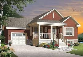 House plan W  V detail from DrummondHousePlans comfront   BASE MODEL Small and affordable Bungalow house plan  open floor plan  master