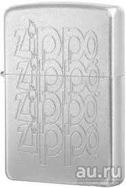 <b>Зажигалка Zippo</b> (Зиппо, США) <b>205 Zippo Logo</b> Satin Chrome ...