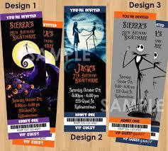 nightmare before christmas invitation printable birthday halloween invitation jack 128270zoom
