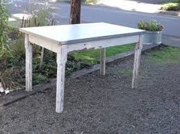 images zinc table top: aged galvanized table top metaltoppedtablescom  orig aged galvanized table top metaltoppedtablescom