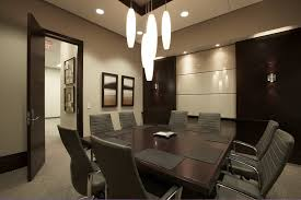 cool modern elegant office designs ideas with unique shaped pendant lamps and square wooden table for alluring person home office design