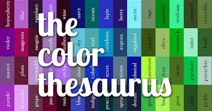 <b>Cool Color</b> Thesaurus! 240 <b>Color</b> Names on an Infographic