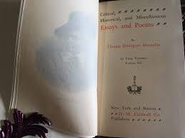 essays and poems of thomas babington macaulay vol essays and poems of thomas babington macaulay 1920