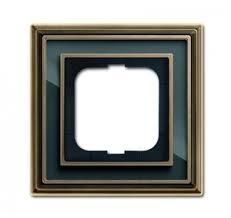 Рамка 1-ая <b>BJE</b> Династия (античная латунь/черное стекло) <b>ABB</b> ...