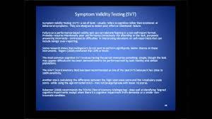 symptom validity testing svt symptom validity testing svt