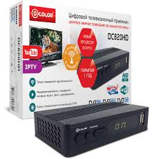 ТВ-<b>тюнер</b>/ресивер <b>D</b>-<b>COLOR DC820HD</b> WiFi, черный — купить в ...