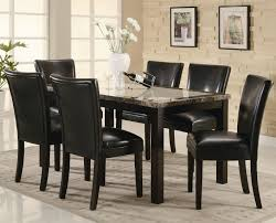 Marble Dining Room Sets Sets Britney White Marble Top Dining Table Set Cream Pu Leather