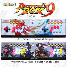 Pandora Box 9 1500 in 1 8 button <b>arcade</b> game console <b>2 players</b> ...