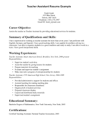 resume teaching assistant examples teaching assistant resume sample resume format pdf teaching assistant resume sample resume format pdf