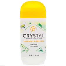 CRYSTAL <b>Дезодорант</b> твёрдый невидимый, ромашка и <b>зелёный</b> ...