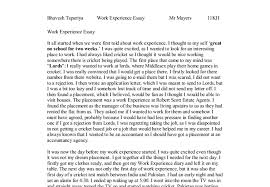 experience essay sample flangetroop resumeeriffic essay on work experience best writing website for economics experience essay examples