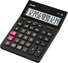<b>Калькулятор настольный Casio</b>, черный, <b>GR</b>-<b>14T</b>-W-EP — купить ...