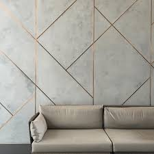 Wall Design Ideas Novacolor Marmorino Plaster With Brushed Copper Inlays