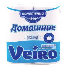 <b>Бумажные полотенца Veiro Домашние</b> белые, 2 слоя, 2 рулона ...