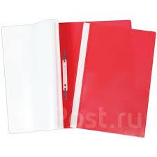 <b>Папка</b>-скоросшиватель A4 красная <b>Attache</b> прозрачная ...