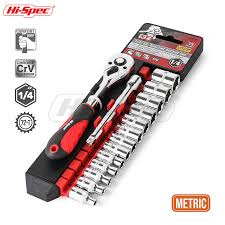 <b>Hi Spec</b> 15pc 1/4 Metric Socket Wrench CR V Drive Bike Torque ...